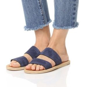 NIB $225 VINCE Travis Two Band Suede Sandals 5.5